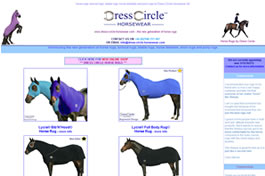 Our Web Designers Created A Page To Present The Horse Rugs Of Dress Circle