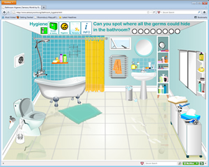 Flash cartoon animation flash movies flash sites and funny animations design ideal to promote - Image of bath room ...