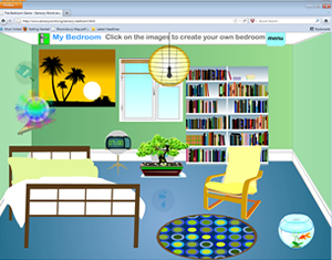 Flash cartoon animation flash movies flash sites and for Design my own bedroom online