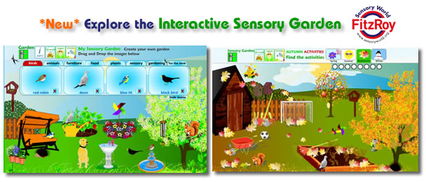 Interactive Sensory Garden in Flash Website Design - Sensory World