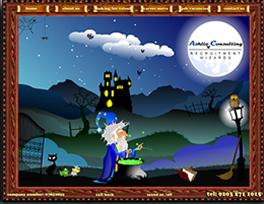 Flash Character animation of a Wizard - Ashlie Consulting Recruitment Wizards in the Market Research Sector